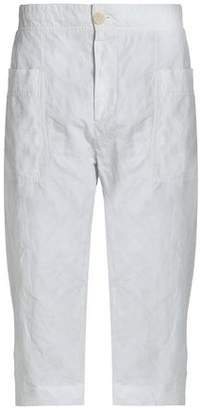 James Perse Cropped Crinkled Cotton-Blend Straight-Leg Pants