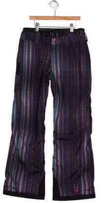 Spyder Girls' Printed Snow Pants