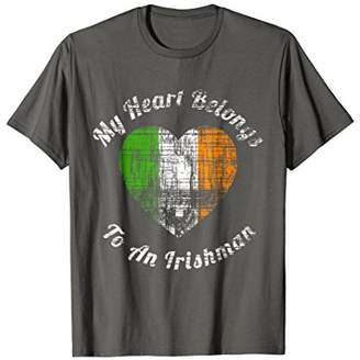 My Heart Belongs to an Irishman Cute Vintage T-Shirt