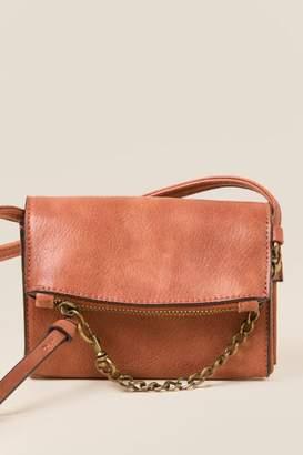 francesca's Laurise Vegan Leather Crossbody - Rust