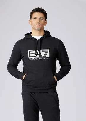 Emporio Armani Hooded Sweatshirt With Ea7 Logo Print