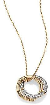 John Hardy Women's Bamboo Diamond & 18K Yellow Gold Round Pendant Necklace