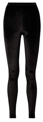 Tom Ford Stretch-velvet Leggings - Black