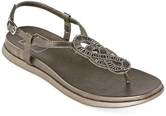 NEW YORK TRANSIT New York Transit Medina Womens Slingback Strap Footbed Sandals