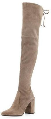 Stuart Weitzman Highstreet Suede Over-The-Knee Boot, Praline $798 thestylecure.com