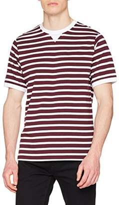 724a5d286e014b Mens Red And White Striped T Shirt - ShopStyle UK