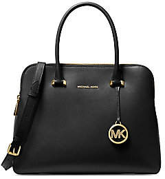 MICHAEL Michael Kors Women's Medium Maddie Leather Dual-Zip Satchel