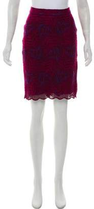 Marc by Marc Jacobs Embroidered Knee-Length Skirt