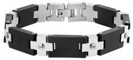 Lord & Taylor Two-Tone Screw Design Bracelet