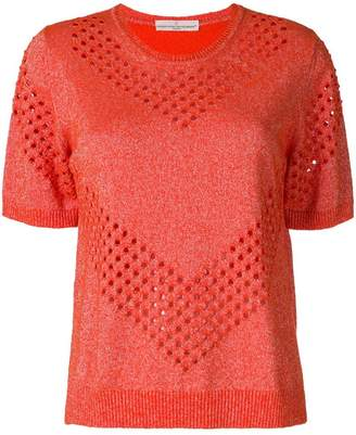 Golden Goose lurex perforated top