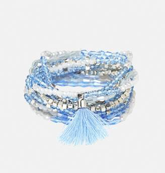 Avenue Thin Blue Stretch Bracelet Set