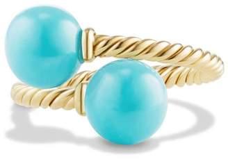 David Yurman 'Solari' Bead Ring with Turquoise in 18K Gold