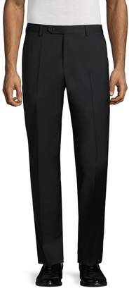 Zanella Men's Parker Solid Flat Front Trousers