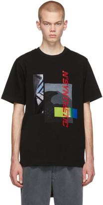 Juun.J Black NSynthetic Printed T-Shirt