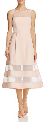 Aidan Mattox Illusion Midi Dress - 100% Exclusive