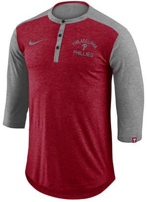 Nike Men's Philadelphia Phillies Dry Henley Top