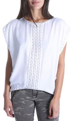 KUT from the Kloth SWAT FAME Sierra Scallop Bead Trim Top