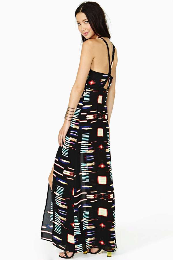 Nasty Gal City Lights Maxi Dress