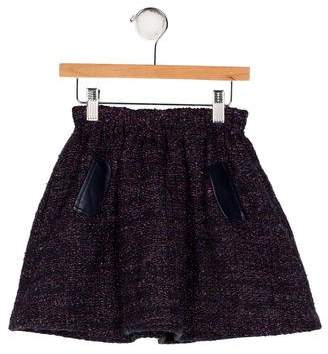 Lili Gaufrette Tweed Flare Skirt