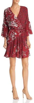 French Connection Ellette Crepe Floral-Print Faux-Wrap Dress