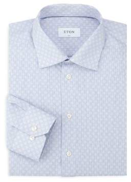 Eton Slim Dot Print Button-Down