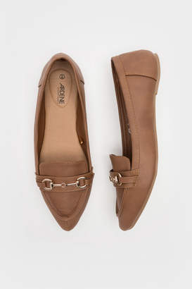 Ardene Faux Leather Pointy Loafers