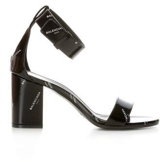 Balenciaga Black Leather Sandals