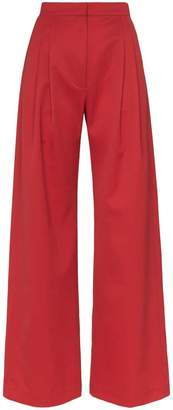 House of Holland X THE WOOLMARK COMPANY high-waisted wide leg trousers
