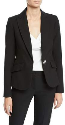 Trina Turk Gala Double Luxe Crystal-Button Jacket
