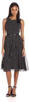 Jessica Howard Women's Dot Ruffle Dress