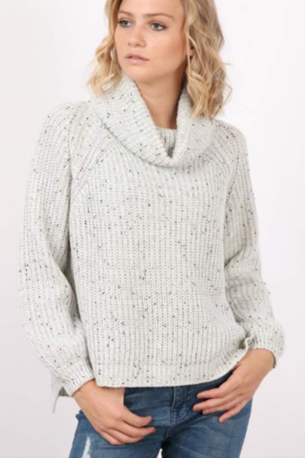 Cowl-Neck Basic Sweater