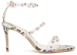 Sophia Webster Rosalind Crystal Embellished Python Effect Sandals - Womens - Python
