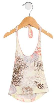 Miss Blumarine Girls' Embellished Halter Top w/ Tags