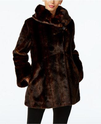 Jones New York Faux-Fur Asymmetrical Coat $400 thestylecure.com