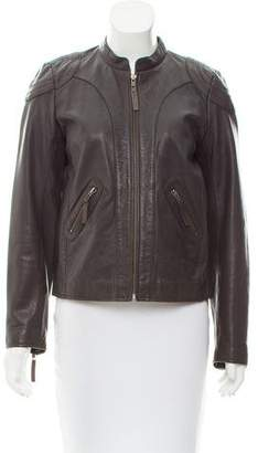 Comptoir des Cotonniers Leather Zip-Up Jacket