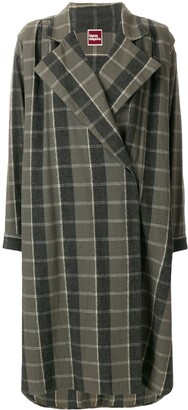 Issey Miyake Pre-Owned oversize check coat