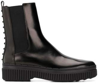 Tod's round toe ankle boots