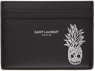 Saint Laurent Black Pineapple Card Holder