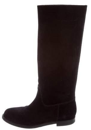 Vera Wang Lavender Label Suede Mid-Calf Boots