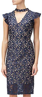 Adrianna Papell Lace Cap Sleeve Sheath Dress, Multi