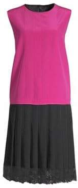 Marc Jacobs Pleated Charleston Shift Dress