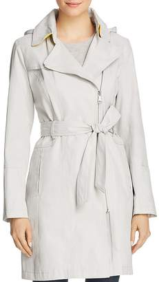 Vince Camuto Asymmetric Front Belted Trench Coat