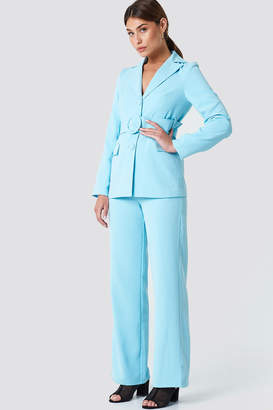 Na Kd Classic Wide Belted Blazer Dusty Pink
