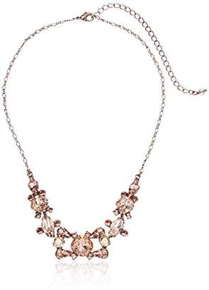 Sorrelli Satin Blush Crossover Statement Necklace