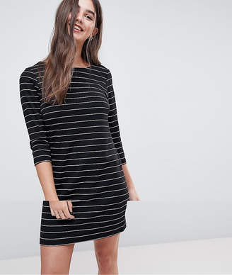 Vila Striped Scoop Neck Jersey Dress