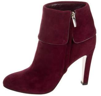 Gianvito Rossi Suede Pointed-Toe Ankle Boots Suede Pointed-Toe Ankle Boots