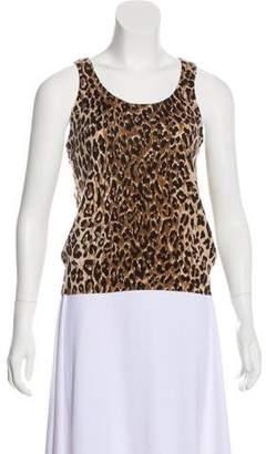 Dolce & Gabbana Animal Print Cashmere Top