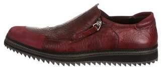 Cesare Paciotti Textured Leather Loafers