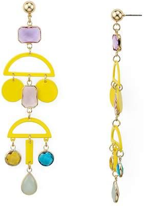 Aqua Geometric Metal Earrings - 100% Exclusive