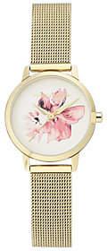 Vince Camuto Women's Floral Goldtone Mesh Bracelet Watch
